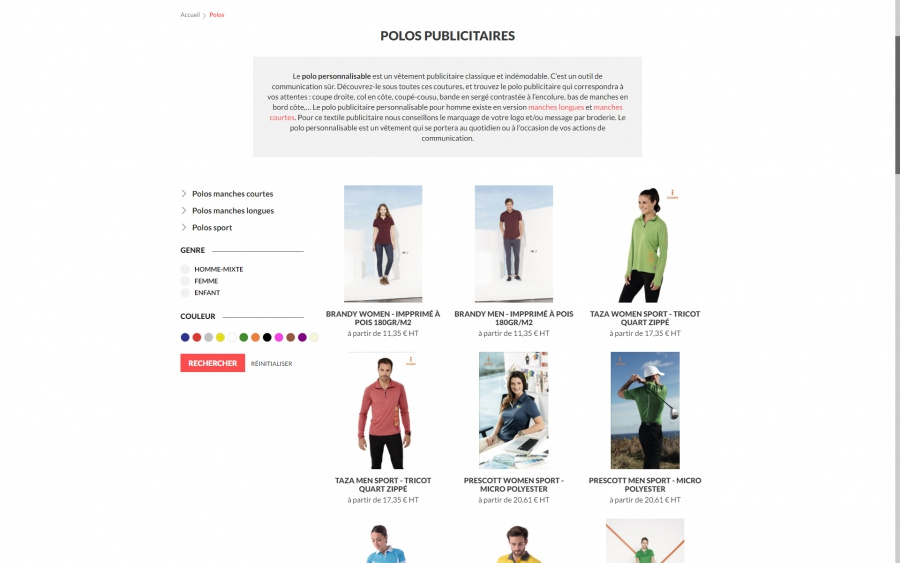 DeoTextil e-commerce